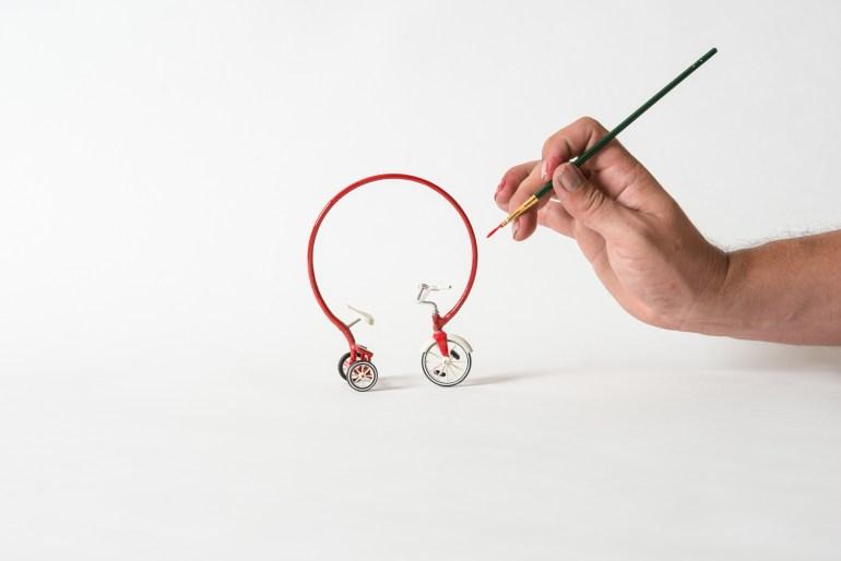 sergio garcia tricycle sculpture