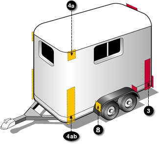 Boat trailer lighting requirements for Federal motor vehicle safety standards