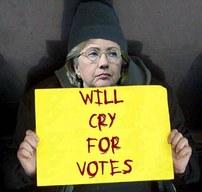 Image result for images of Hillary Clinton crying