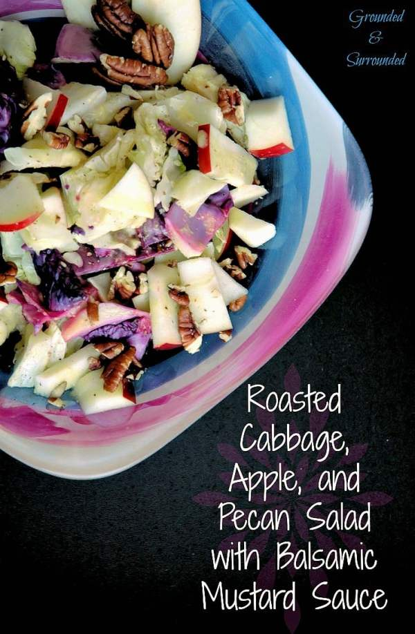 "This warm, healthy, and colorful salad is simple to make and full of flavor! It is low calorie and pairs perfectly with any protein and will turn everyone at the table into a cabbage lover! The apples and pecans are just the ""icing on the cake""! https://www.groundedandsurrounded.com/recipe/roasted-cabbage-apple-pecan-salad/"