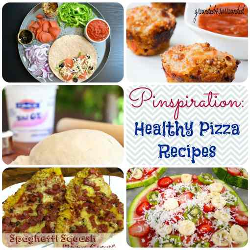 Healthy Pizza Recipe Pinspiration: Are you craving pizza, but don't want to ruin your clean eating and healthy lifestyle? We have found the most delicious and easy recipes for you! Pizzadilla, anyone? https://www.groundedandsurrounded.com/healthy-pizza-recipe-collection/
