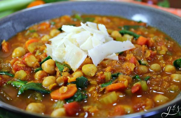 Vegetarian moroccan chickpea stew grounded surrounded this quick vegetarian dinner recipe is full of bold and unique flavors perfect for a forumfinder Image collections