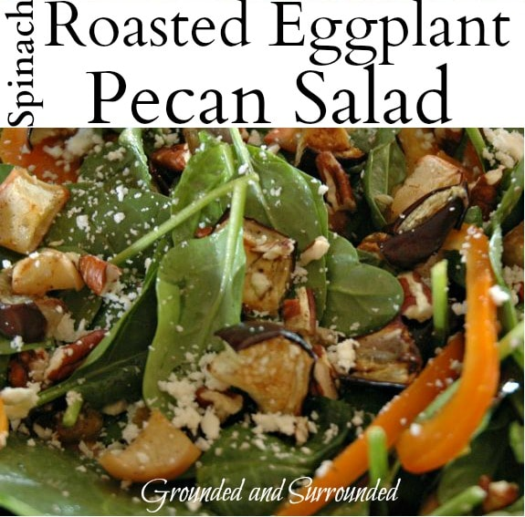 Looking for a unique, yet simple salad to prepare for your next meal or family get together? Well, you found it! Serve this healthy and whole food recipe warm or cold! Oh, the delicious flavors in this salad! You better print extra copies of this recipe because all your guests will be asking for it! https://www.groundedandsurrounded.com/recipe/spinach-roasted-eggplant-and-pecan-salad/