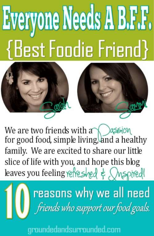 Sarah Koontz and Sammi Ricke's blog celebrating the power of friendship, the beauty of simplicity, and the flavors of life. We write about all things HEALTHY! Heart, Home, and Habits.