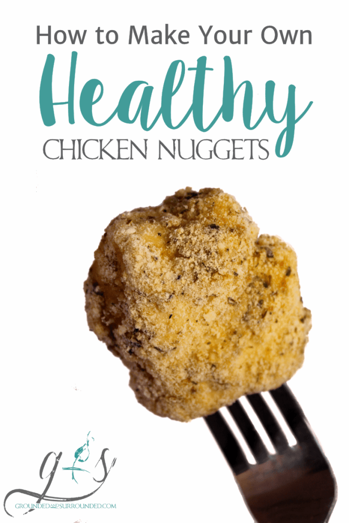 """Learn how to make your own healthy baked chicken nuggets with the girls at Grounded and Surrounded! This easy meal is homemade, gluten-free, simple to prepare, and taste amazing! Totally kid-friendly and perfect for the """"big"""" kids as well! ;) https://www.groundedandsurrounded.com/recipe/healthy-homemade-chicken-nuggets/"""