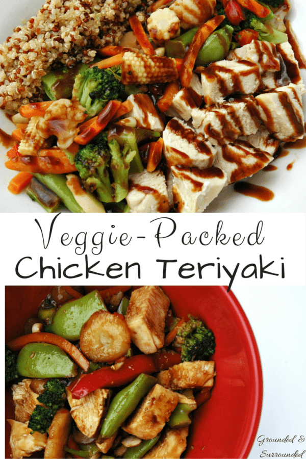 A simple and healthy take on chicken teriyaki that can be made in a snap! That's right! Move over take-out, we got you beat! This will quickly become a family favorite and go-to meal on those busy weeknights. The sweetness, spiciness, and savory flavors of this whole foods recipe hit every single taste bud! It's gluten-free as well! https://www.groundedandsurrounded.com/recipe/veggie-packed-chicken-teriyaki/