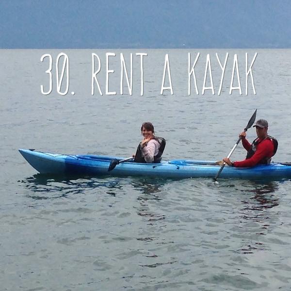 30. Rent a Kayak
