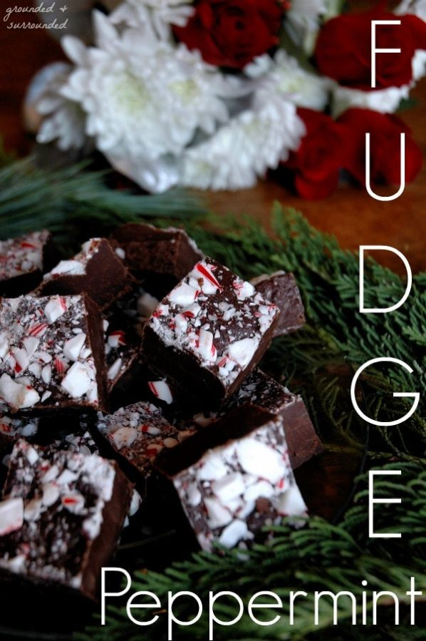 Only 4 simple ingredients and foolproof! If you can melt chocolate and crush candy canes you can make this easy and delicious dark chocolate Christmas treat. This is the BEST fudge recipe to give as last minute homemade holiday gifts and perfect for your next cookie exchange! www.groundedandsurrounded.com/recipe/peppermint-fudge/ 