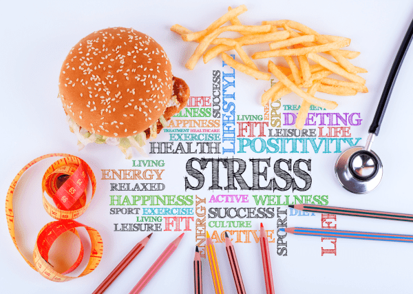 5 Foods That Cause You Stress | Do you know the five main foods that cause anxiety? Did you know french fries don't cure all ailments? ;) Me neither! Stress relief can happen by reducing these sweet, salty, fried, and caffeine rich foods from your diet. The effects of stress are a shorter life and poor quality of life. No thanks! Goodbye junk food, hello healthy eating!