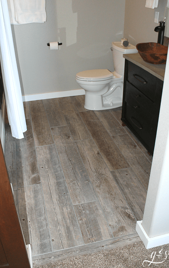 How To Tile A Bathroom Floor With Plank Tiles Grounded