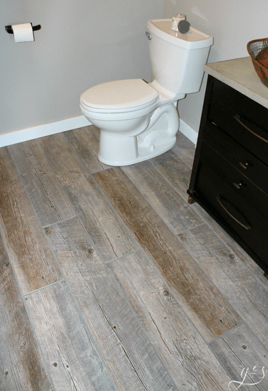 How to Tile a Bathroom Floor with Plank Tiles - Grounded ...