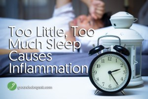 Too Little, Too Much Sleep Causes Inflammation
