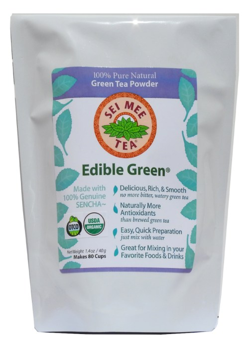 Edible Green Tea Sencha Powder 80 cups, economical pouch