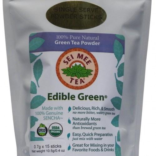 Edible Green Sencha Powder single serving sticks