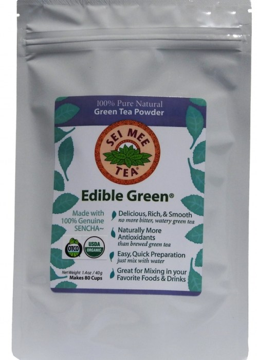 Edible Green Sencha Powder 80 cups, economical pouch