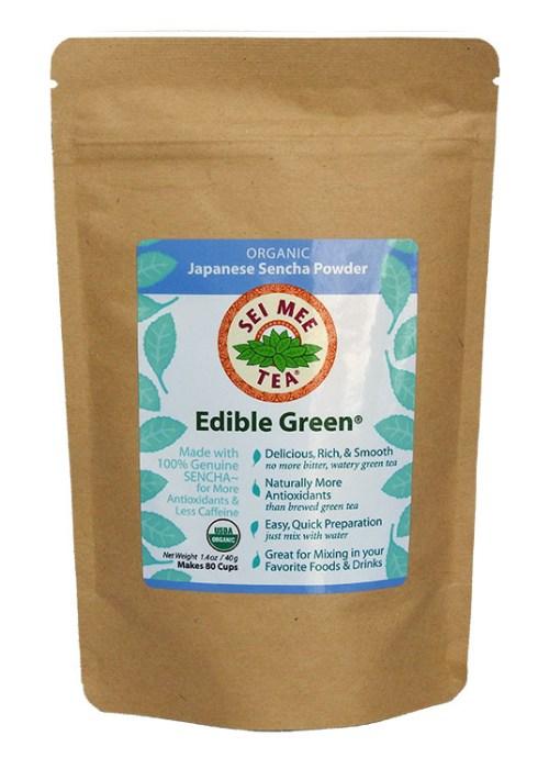 Edible Green Tea Sencha Powder 80 cups, economical pouch