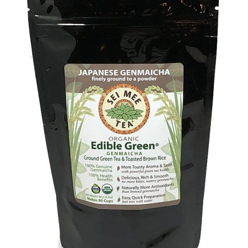 Organic GENMAICHA Edible Green tea powder 90g