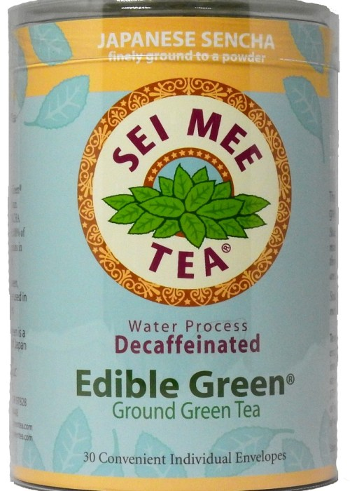 Edible Green Sencha Powder Water Process Decaffeinated Single Serving Packets