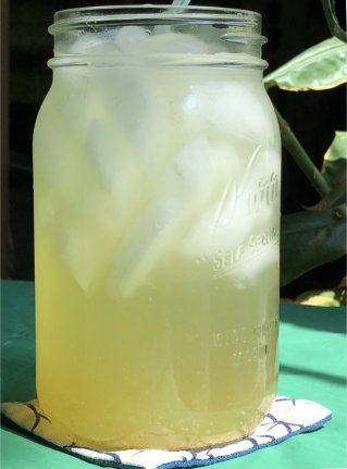 iced spiced ginger green tea