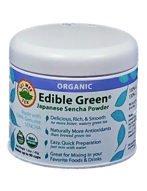 sencha green tea powder, edible green tea