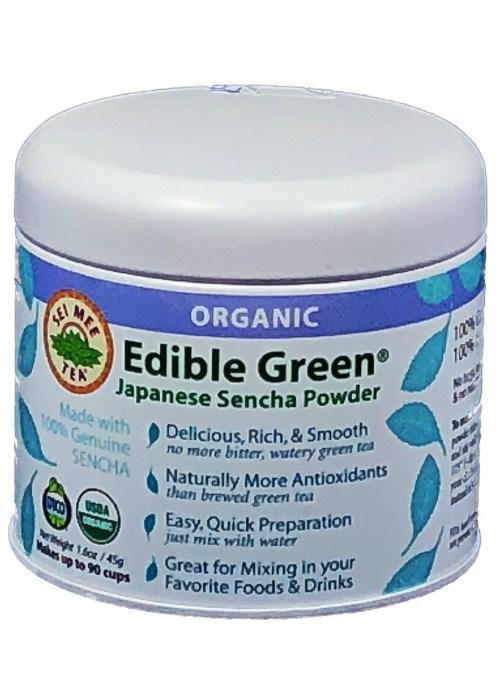 Edible Green Tea Sencha Powder 90 cup Gift Tin