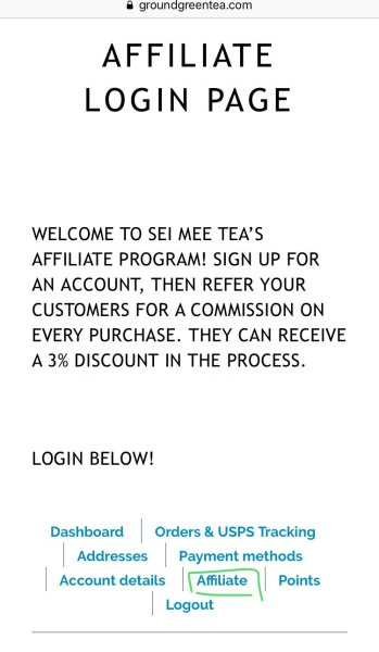 open your affiliate page