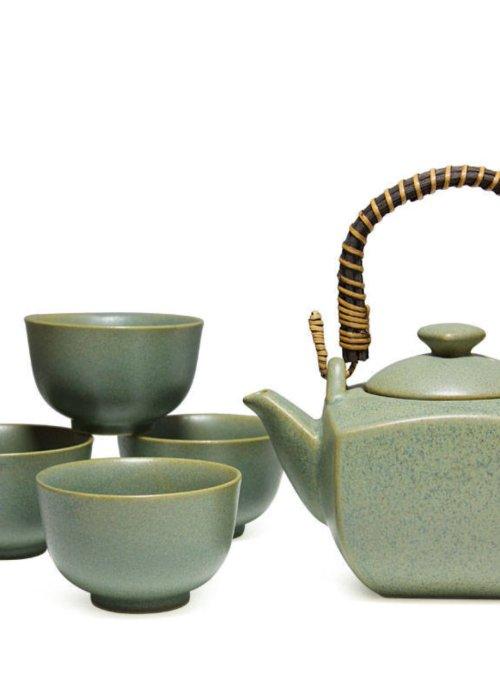 Matte Finish Green Tea Set