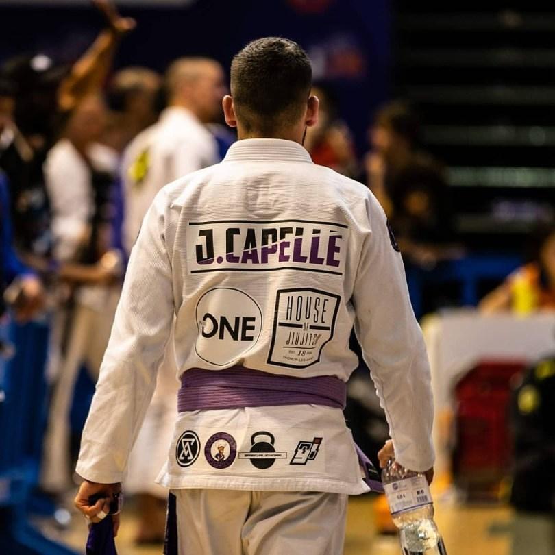 Jeffrey Capelle en compétition de jiu jitsu brésilien