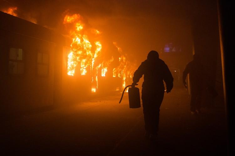 Photo of burning train