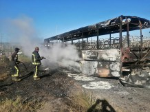 Cars and buses torched in electricity protest