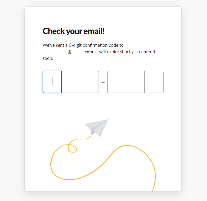 Verify your email address to create a Slack community