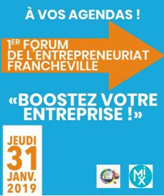 Save the date : 31 janvier 1er Forum de l'entrepreneuriat à Francheville