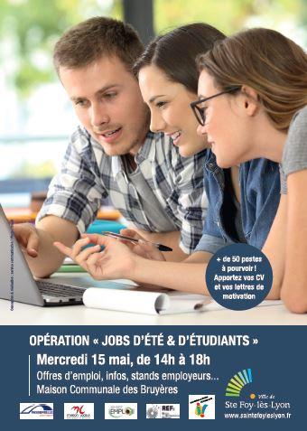 Forum Job d'été & étudiant mercredi 15 mai 2019 à STE FOY LES LYON