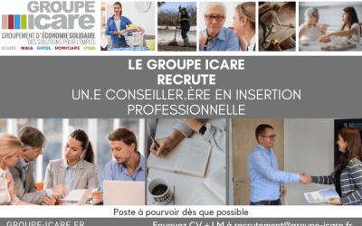 Offre pourvue Le groupe ICARE recrute Un.e Conseiller.ère en Insertion Professionnelle