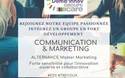 à pourvoir Groupe Icare Domb'innov Valhorizon recrute Un.e  Chargé.e de communication marketing en alternance