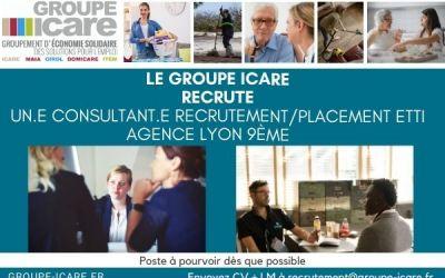 à pourvoir Le groupe Icare recrute Un.e  consultant.e recrutement/placement ETTI