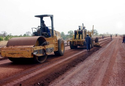 Travaux de construction du tronçon routier du quartier Badjalan