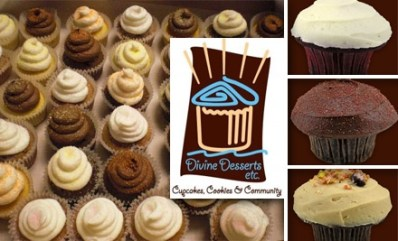 $8 for Six Cupcakes at Divine Desserts Etc. ($18 Value)