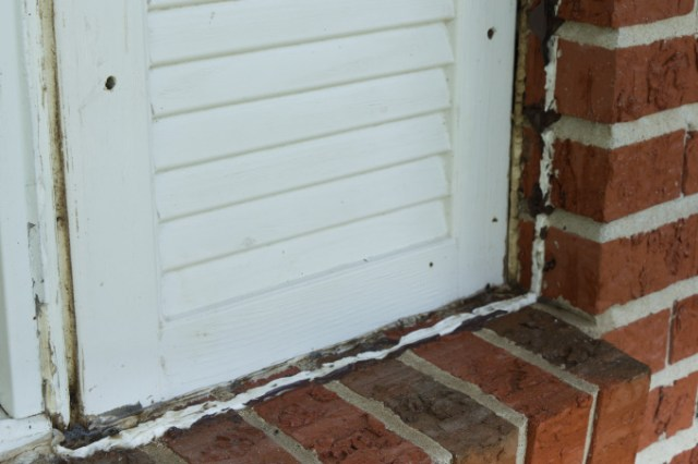 After cleaning off wasp nests under porch shutters