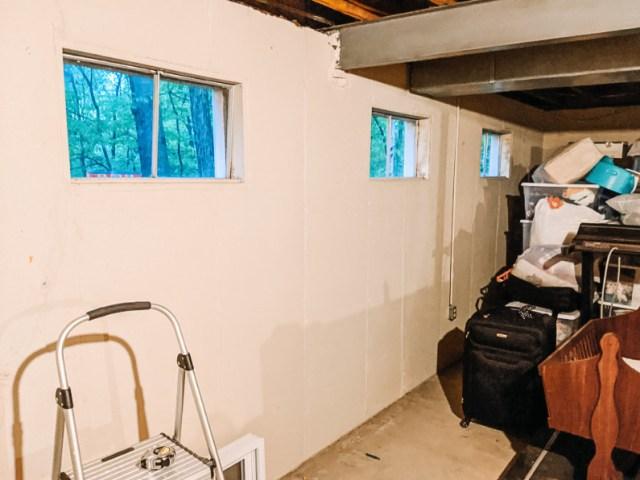 Old single pane basement windows