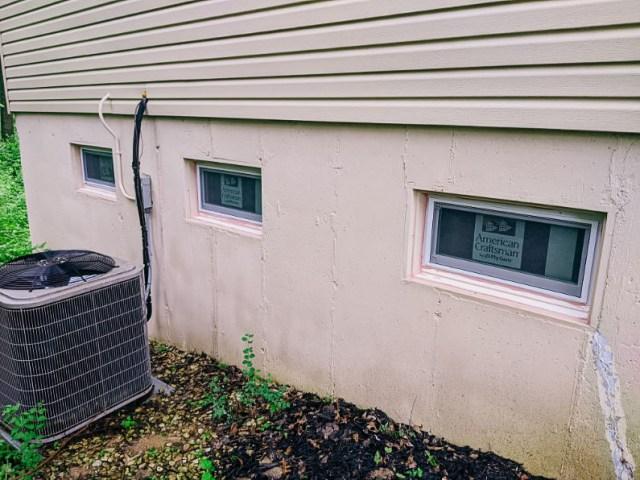 New double pane, energy efficient hopper basement windows