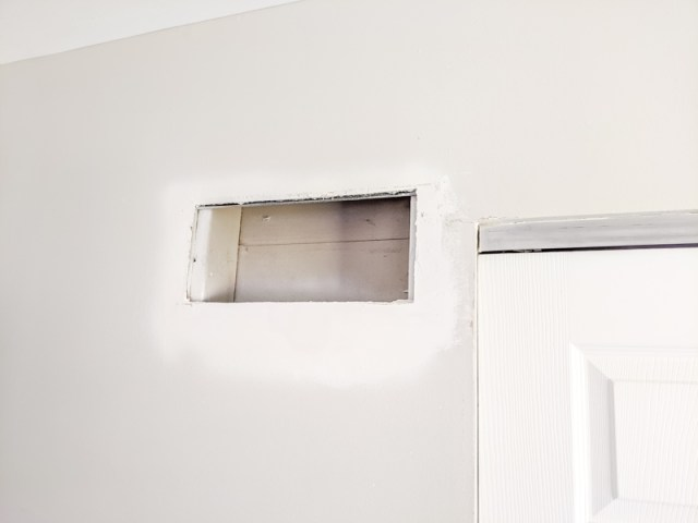 Patching around cold air return vent