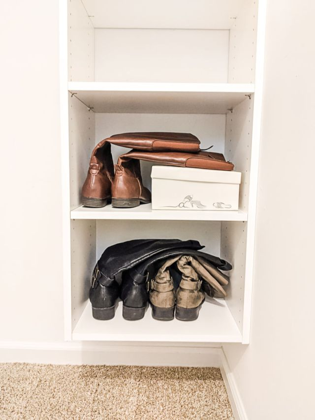 Organizing shoes in closet