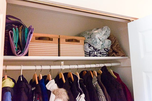 Before installing the ClosetMaid closet organizer