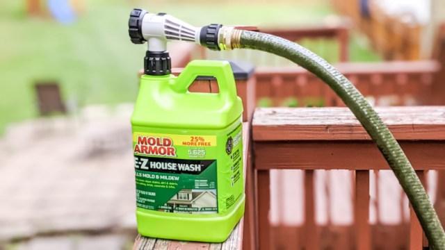 Mold Armor EZ House Wash Mold Mildew Siding Bottle Hose Nozzle Connector