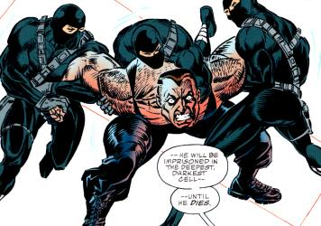 Batman Versus Bane: Bane restrained
