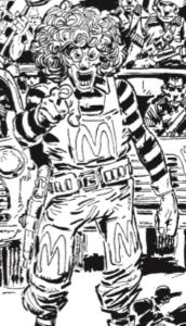 Judge Dredd meets a pastiche of Ronald McDonald in The Cursed Earth Uncensored
