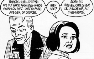 Doyle and Maggie in Jaime Hernandez's Is This How You See Me?