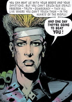 Dupre in Revolution, a story in Essential Judge Dredd: America