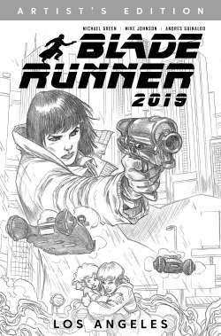 Cover of the Artist's Edition of Blade Runner 2019 - Los Angeles
